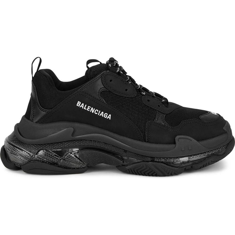 メンズ靴, スニーカー  Balenciaga Triple S black mesh sneakersBlack