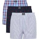 ラルフ ローレン Polo Ralph Lauren メンズ ボクサーパンツ インナー・下着【cotton boxer shorts - set of three】Blue