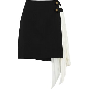 Givenchy Givenchy Ladies Mini Skirt Skirt [Monochrome Wool And Silk Mini Skirt] Black