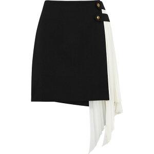 تنورة جيفنشي التنورة القصيرة النسائية من الصوف والحرير باللون الأسود