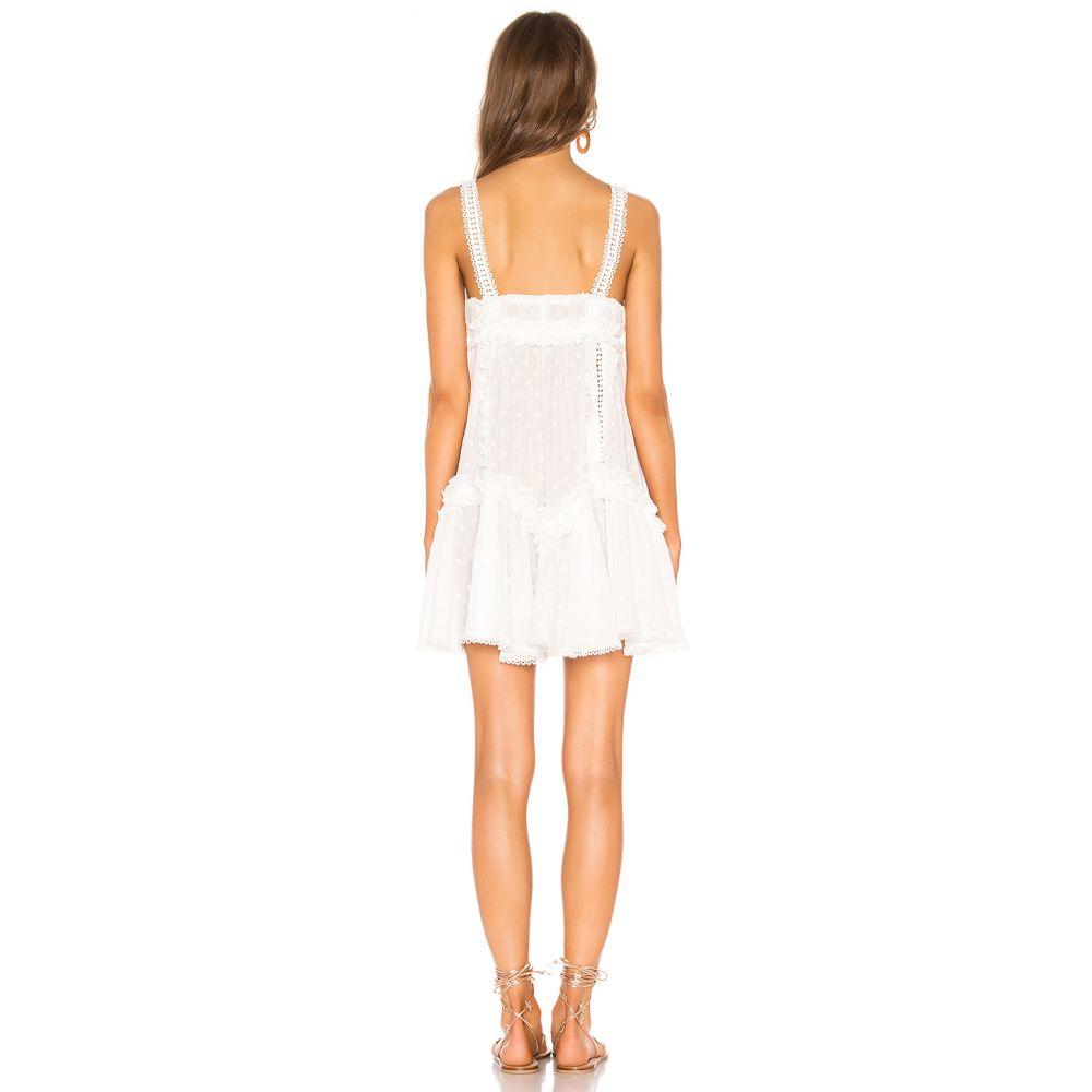 チオ CHIO レディース ワンピース・ドレス ワンピース【Ruffles and Lace Mini Dress】White