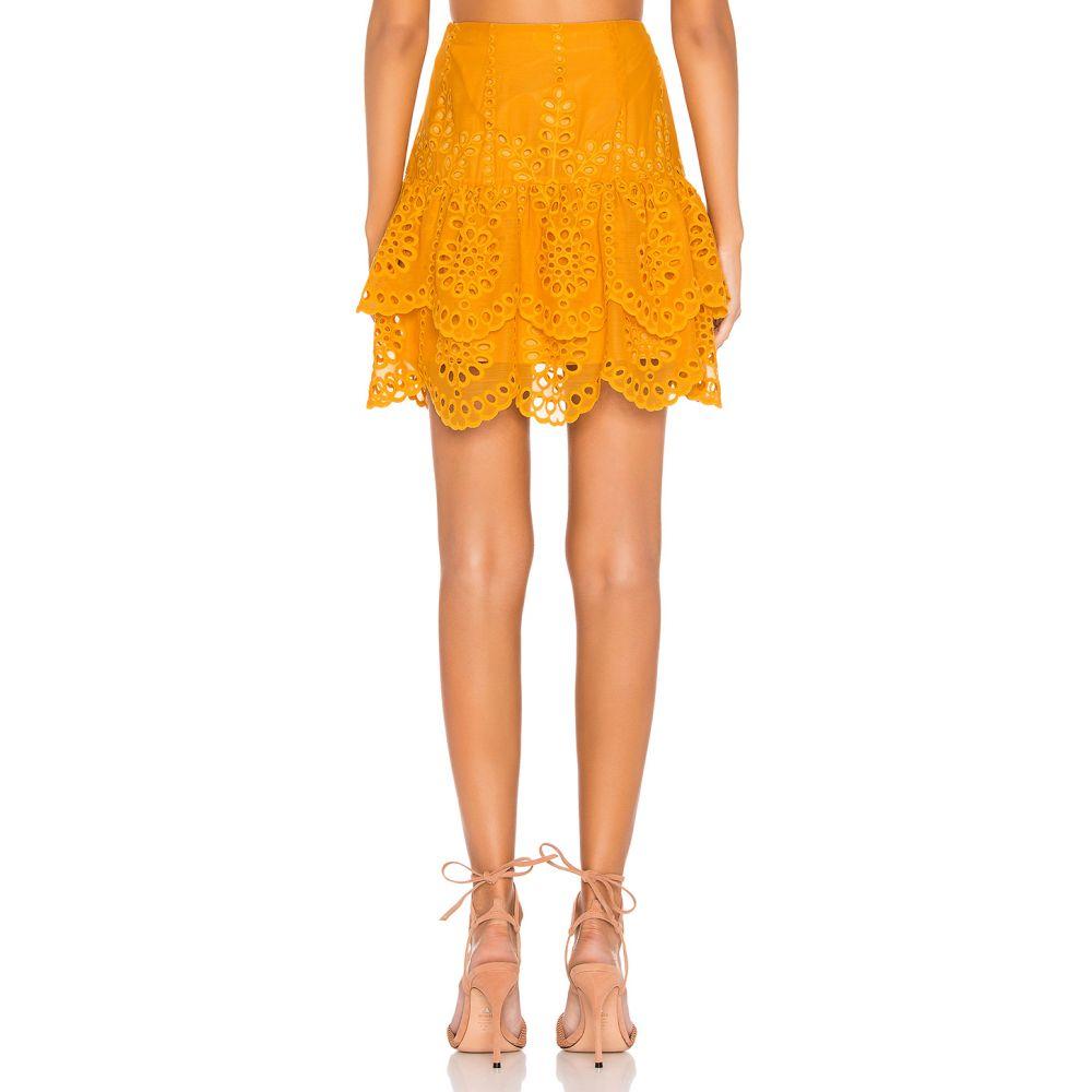 ラヴァーズフレンズ Lovers + Friends レディース スカート ミニスカート【Chantelle Mini Skirt】Mustard