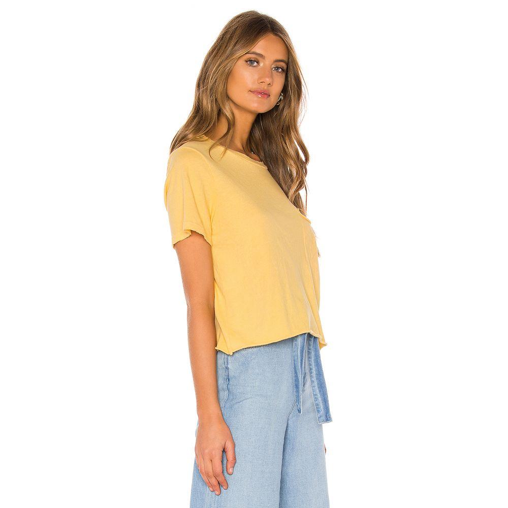 エルエーメイド LA Made レディース トップス Tシャツ【Cydney Distressed Pocket Tee】Mellow Yellow