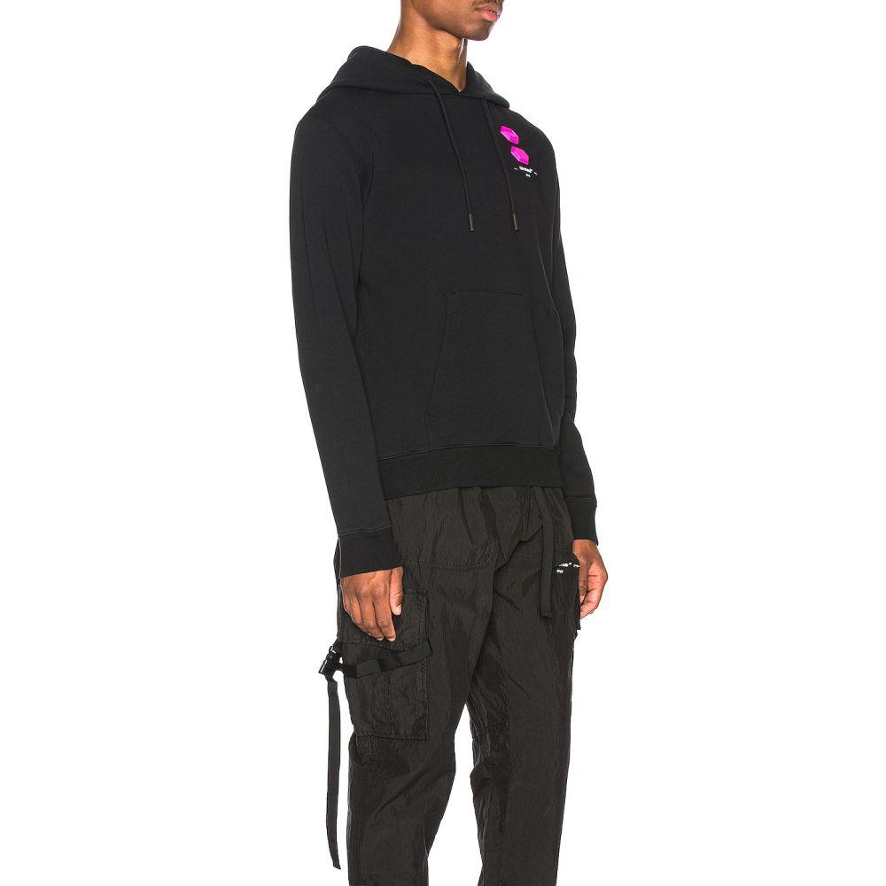 オフ-ホワイト OFF-WHITE メンズ トップス パーカー【EXCLUSIVE Hooded Sweatshirt】Black