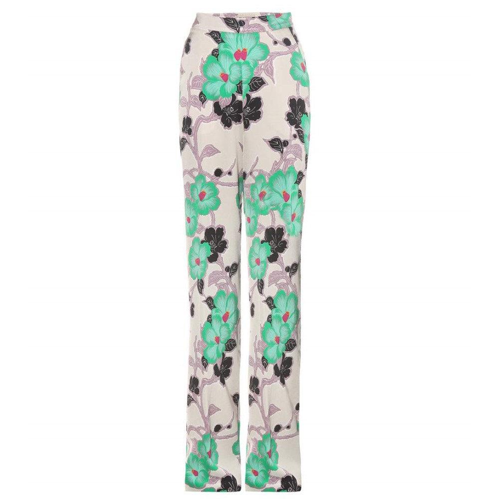 エトロ Etro レディース ボトムス カジュアルパンツ【Floral-printed satin trousers】:フェルマート