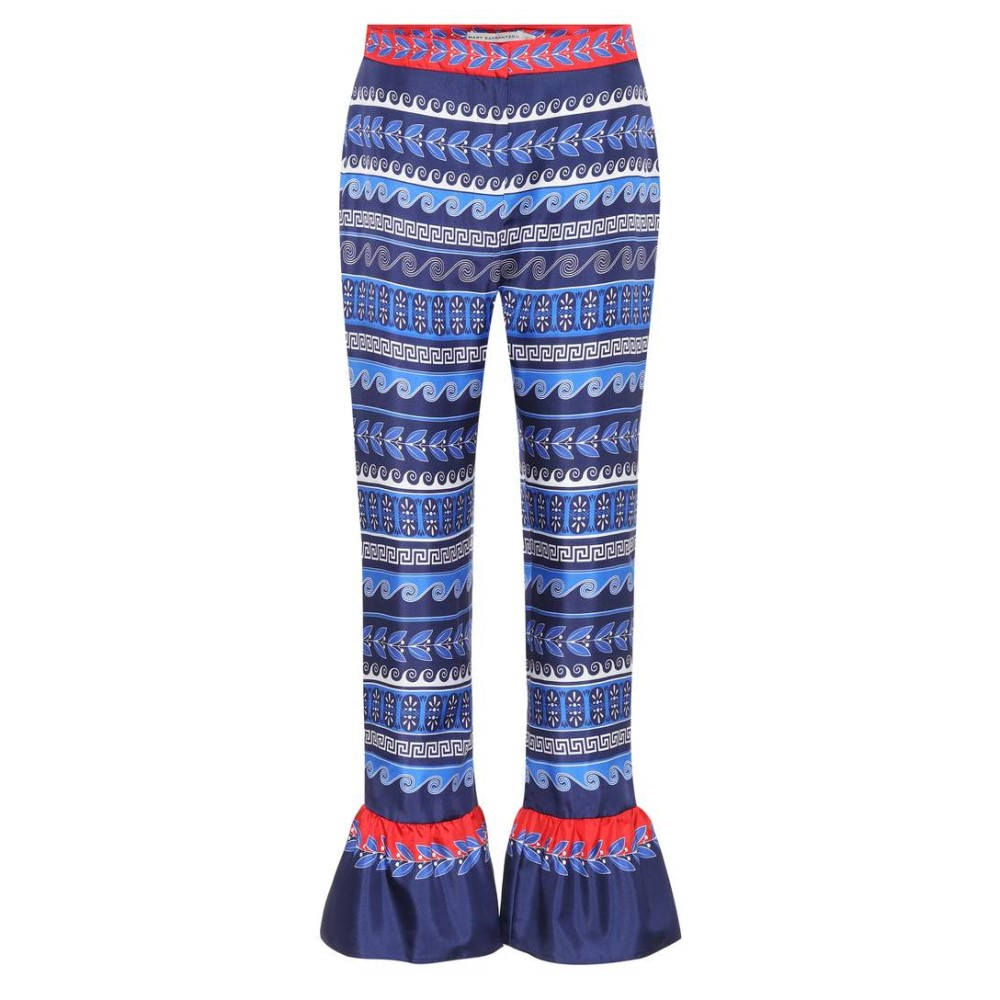 メアリー カトランズ Mary Katrantzou レディース ボトムス トラウザーズ【Peyote printed silk trousers】:フェルマート