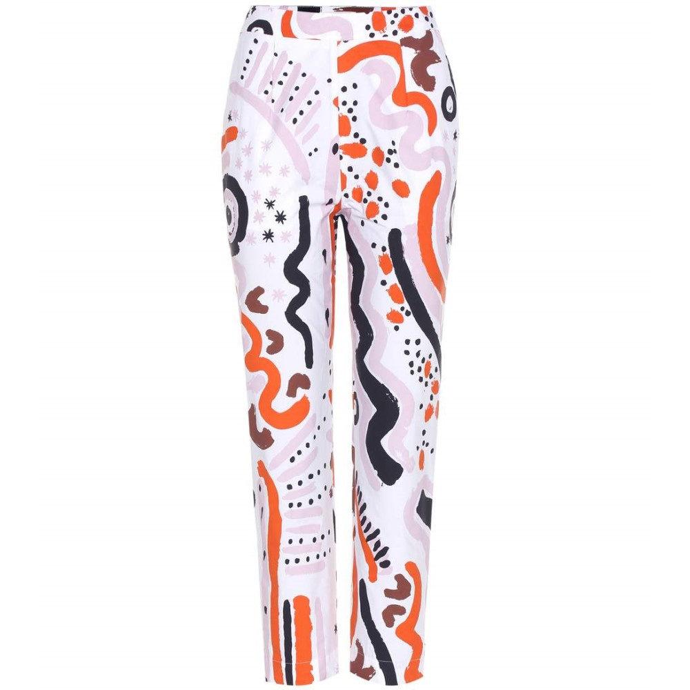 イサアーフェン Isa Arfen レディース ボトムス トラウザーズ【Tribal Party printed cotton cropped trousers】:フェルマート