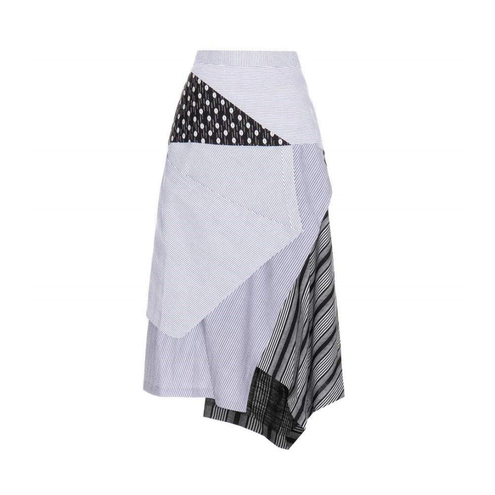 J.W.アンダーソン J.W.Anderson レディース スカート カジュアルスカート【Striped cotton skirt】:フェルマート