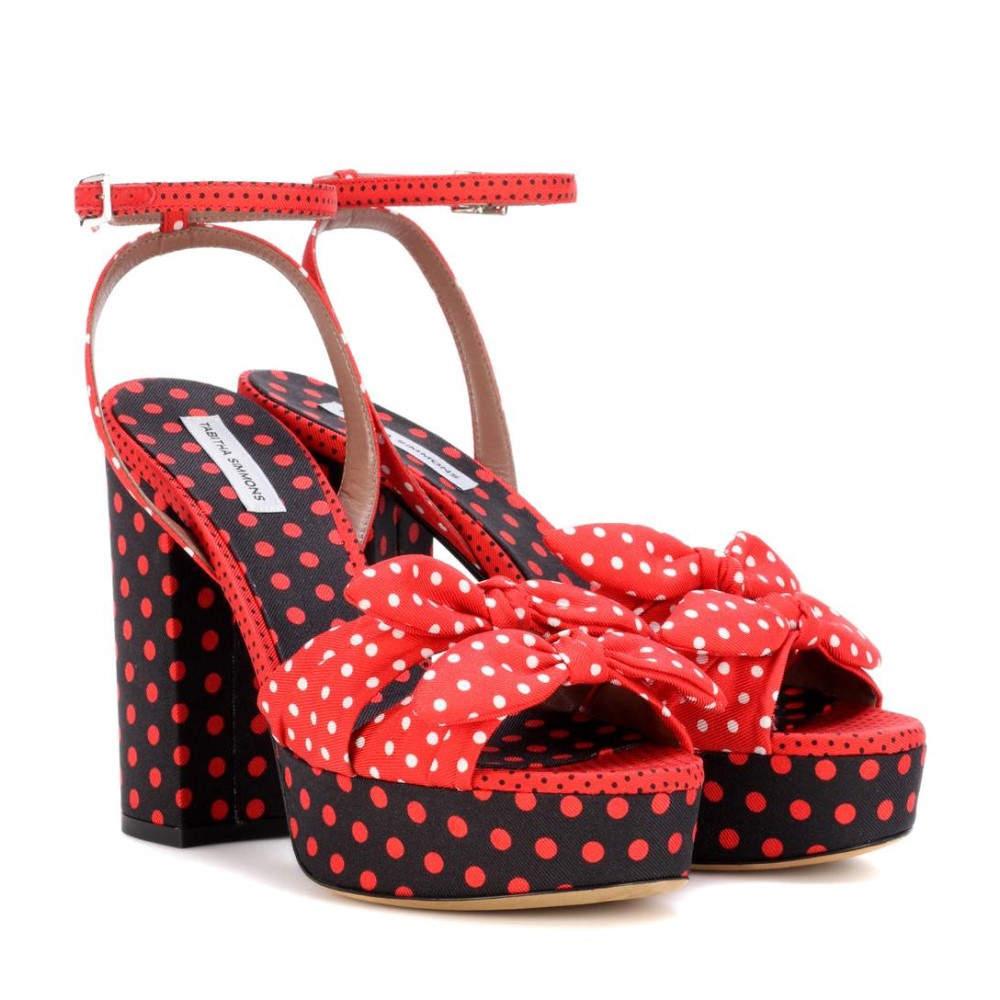 タビサ シモンズ Tabitha Simmons レディース シューズ・靴 サンダル【Jodie polka-dotted plateau sandals】:フェルマート