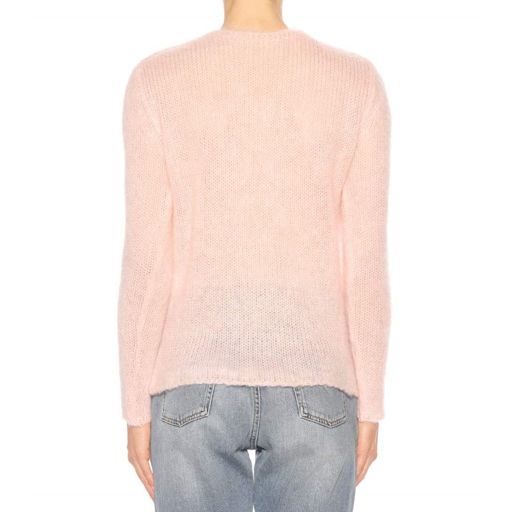 イヴ サンローラン レディース トップス ニット・セーター【Mohair-blend sweater】Pale Pink