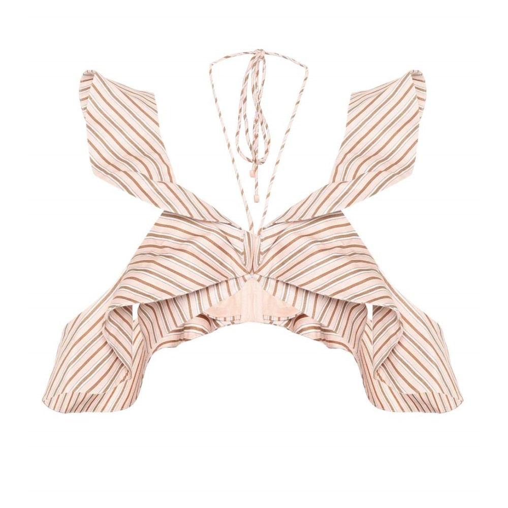 ジマーマン レディース トップス【Striped linen top】Blossom Stripe