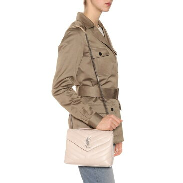 イヴ サンローラン レディース バッグ ショルダーバッグ【LouLou Monogram Small leather shoulder bag】Nude Powder