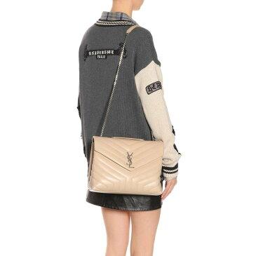 イヴ サンローラン レディース バッグ ショルダーバッグ【Loulou Monogram leather shoulder bag】Nude Powder/Nude Powder
