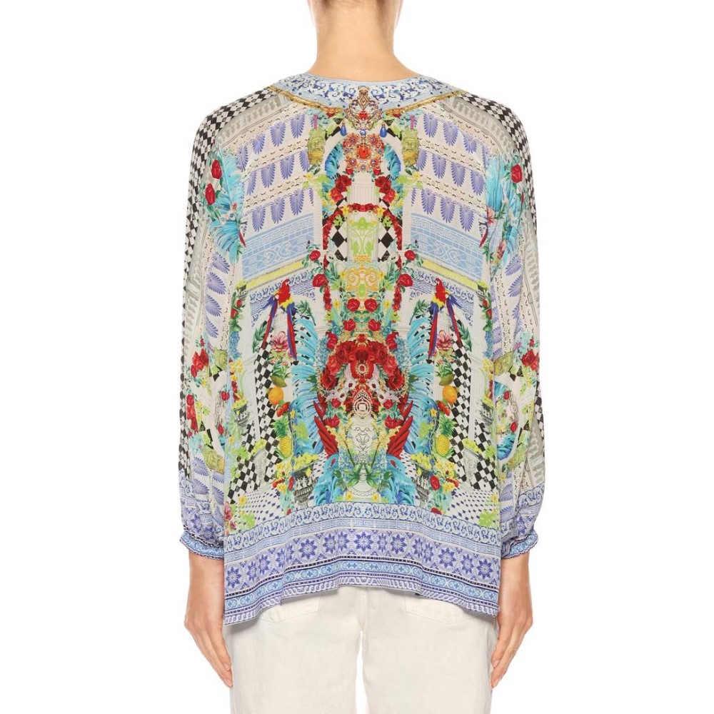 カミーラ レディース 水着・ビーチウェア ビーチウェア【Printed silk blouse】Masking Madness