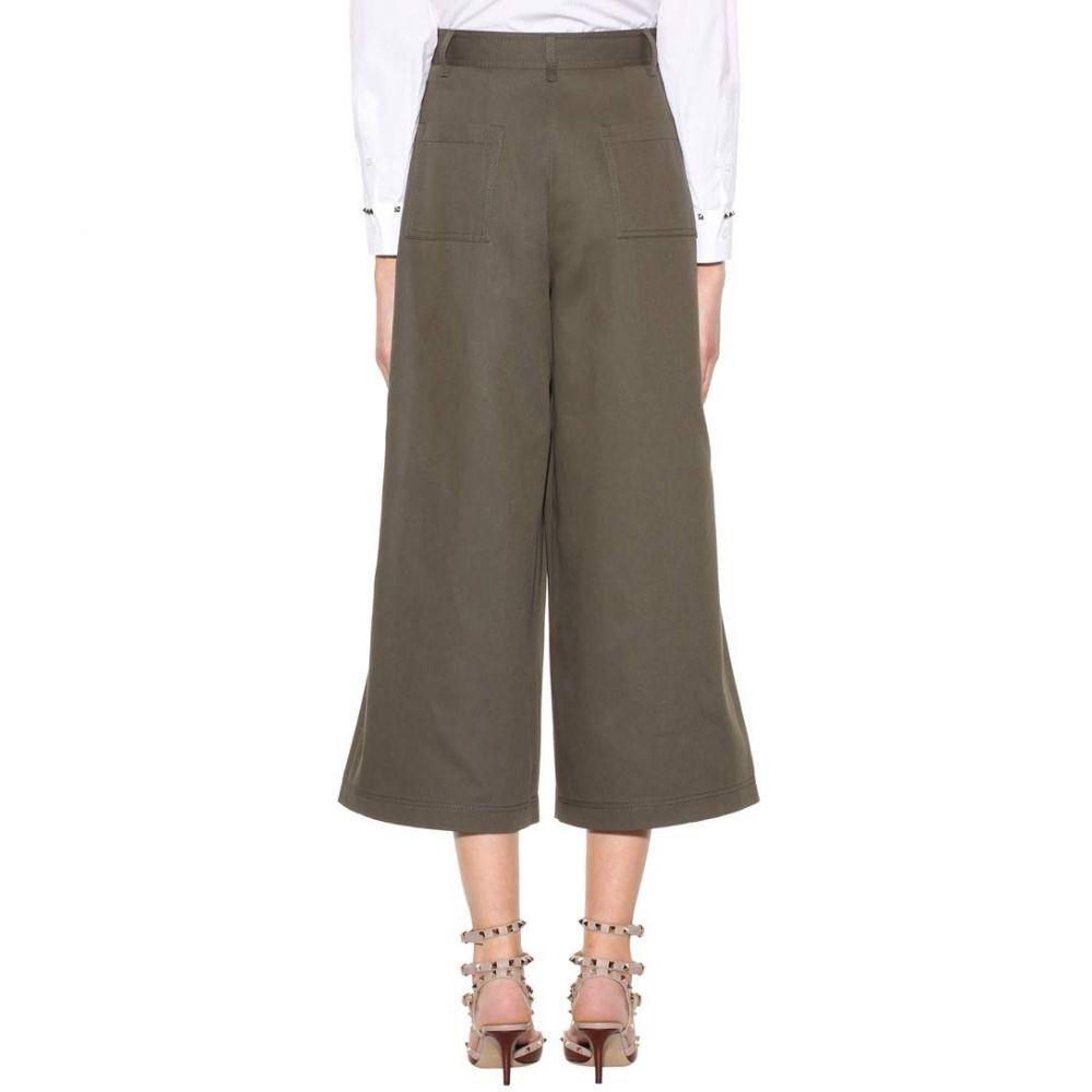 ヴァレンティノ レディース ボトムス・パンツ【Wide-legged wool trousers】Olive