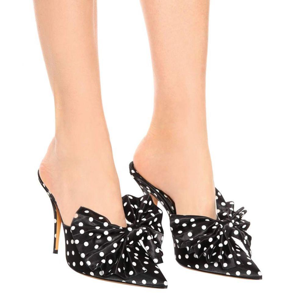 アレクサンドル ボーティエ レディース シューズ・靴 サンダル・ミュール【Kate 100 polka-dotted mules】Polka Dot Black