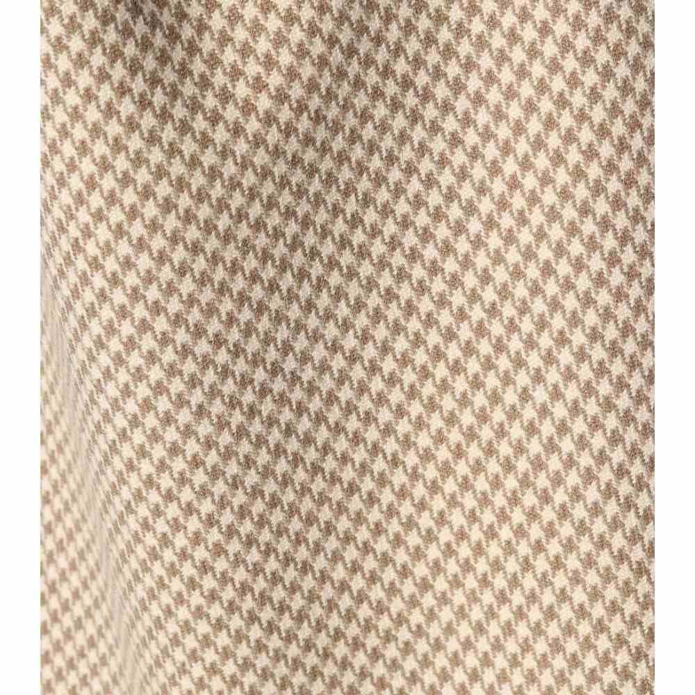 バレンシアガ レディース スカート【Wool-blend houndstooth skirt】Beige