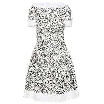 キャロリーナ ヘレラ レディース ワンピース・ドレス ワンピース【Printed tweed dress】White/Black