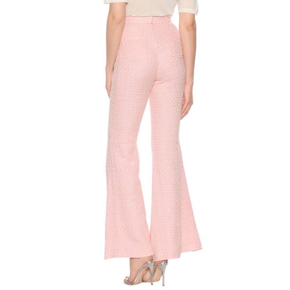 バルマン レディース ボトムス・パンツ【Cotton-blend high-waisted trousers】Rose