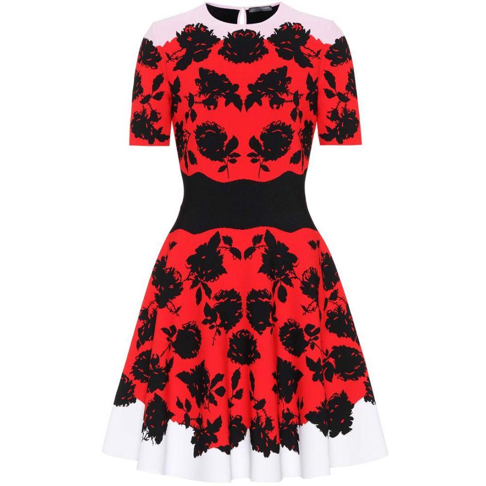 372e8eb9f1685 アレキサンダー マックイーン レディース ワンピース・ドレス ワンピース Knitted fit-and-flare  dress  Red Black Ivory Pink アレキサンダー マックイーン ...