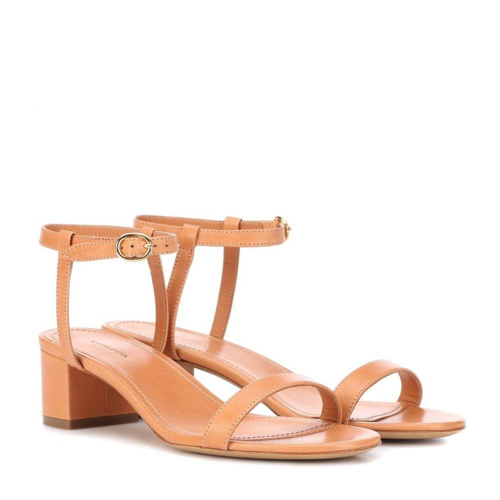マンサーガブリエル レディース シューズ・靴 サンダル・ミュール【Leather sandals】Cammello