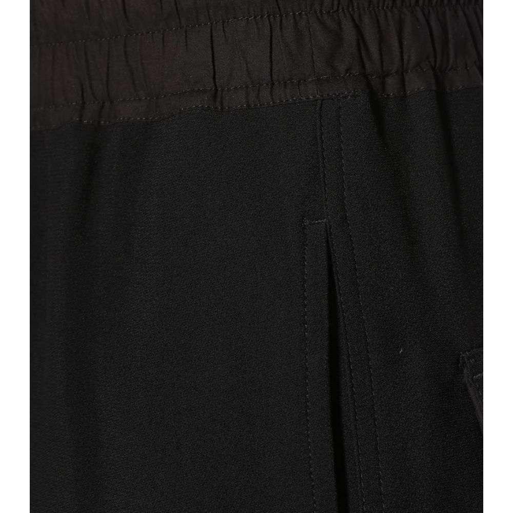 リック オウエンス レディース ボトムス・パンツ スウェット・ジャージ【Cropped tapered sweatpants】Black