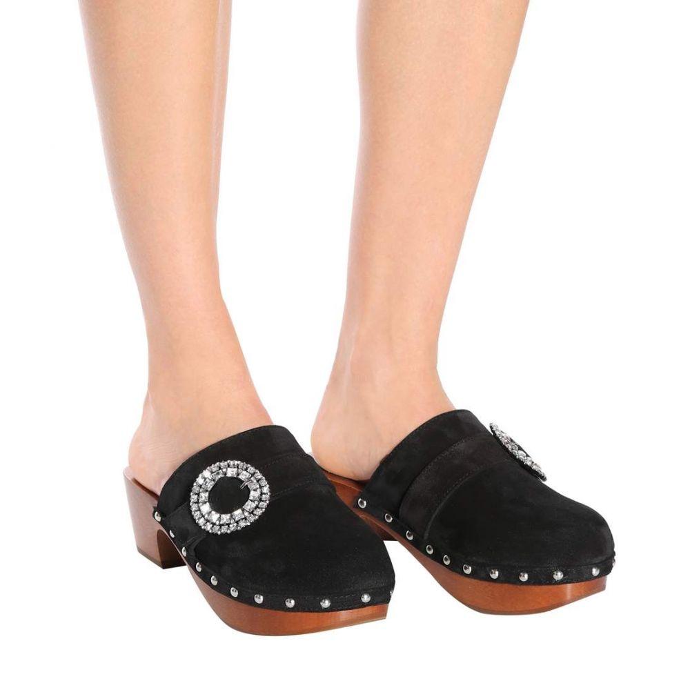 ジミー チュウ レディース シューズ・靴 クロッグ【Doralie 55 embellished suede clogs】Black
