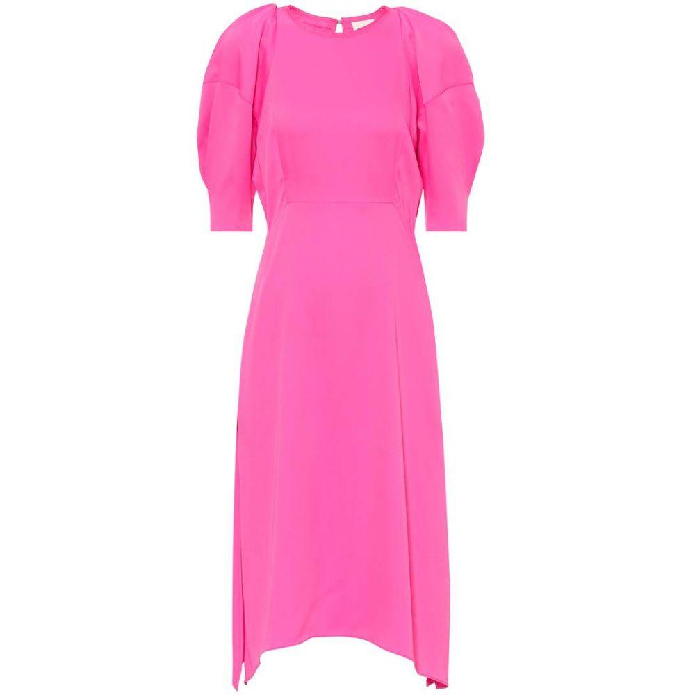 カイト レディース ワンピース・ドレス ワンピース【Cynthia satin midi dress】Bright Pink