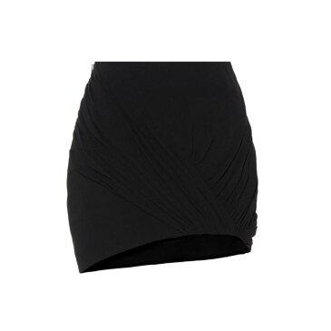 イヴ サンローラン レディース スカート ミニスカート【Wool and silk asymmetric miniskirt】Black