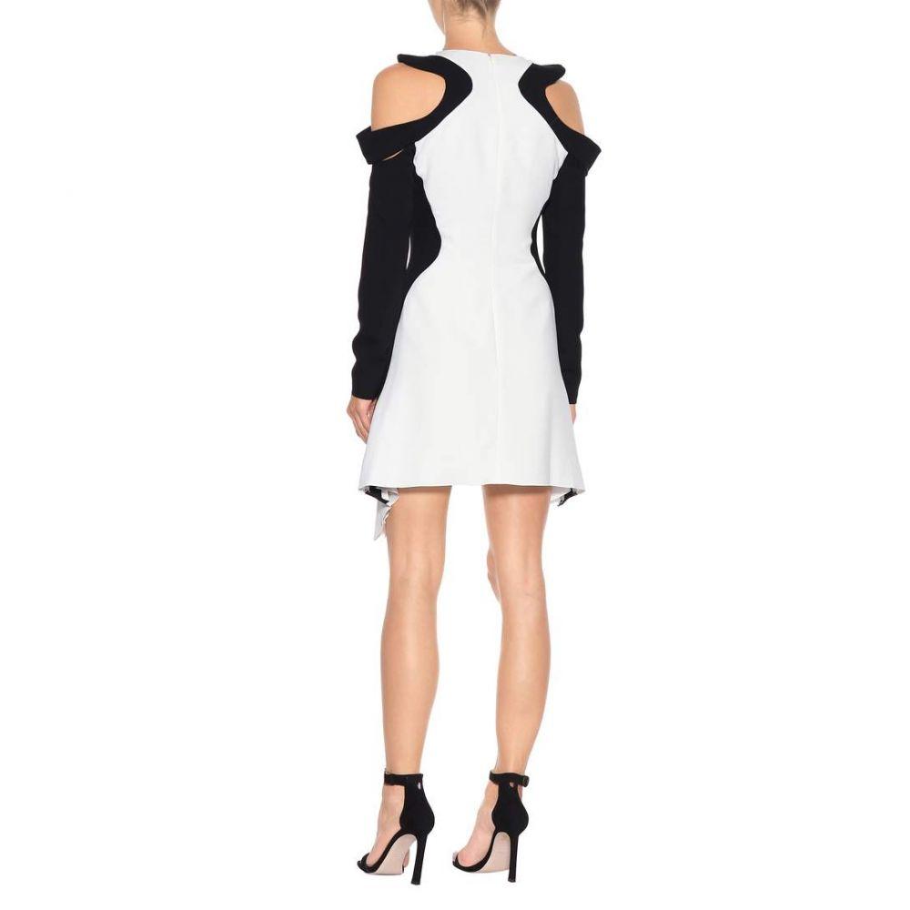 ミュグレー レディース ワンピース・ドレス ワンピース【Crepe cold-shoulder dress】Off White/Black