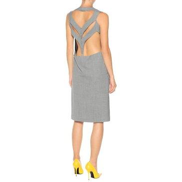 メゾン マルジェラ レディース ワンピース・ドレス ワンピース【Houndstooth wool dress】Pied De Poule