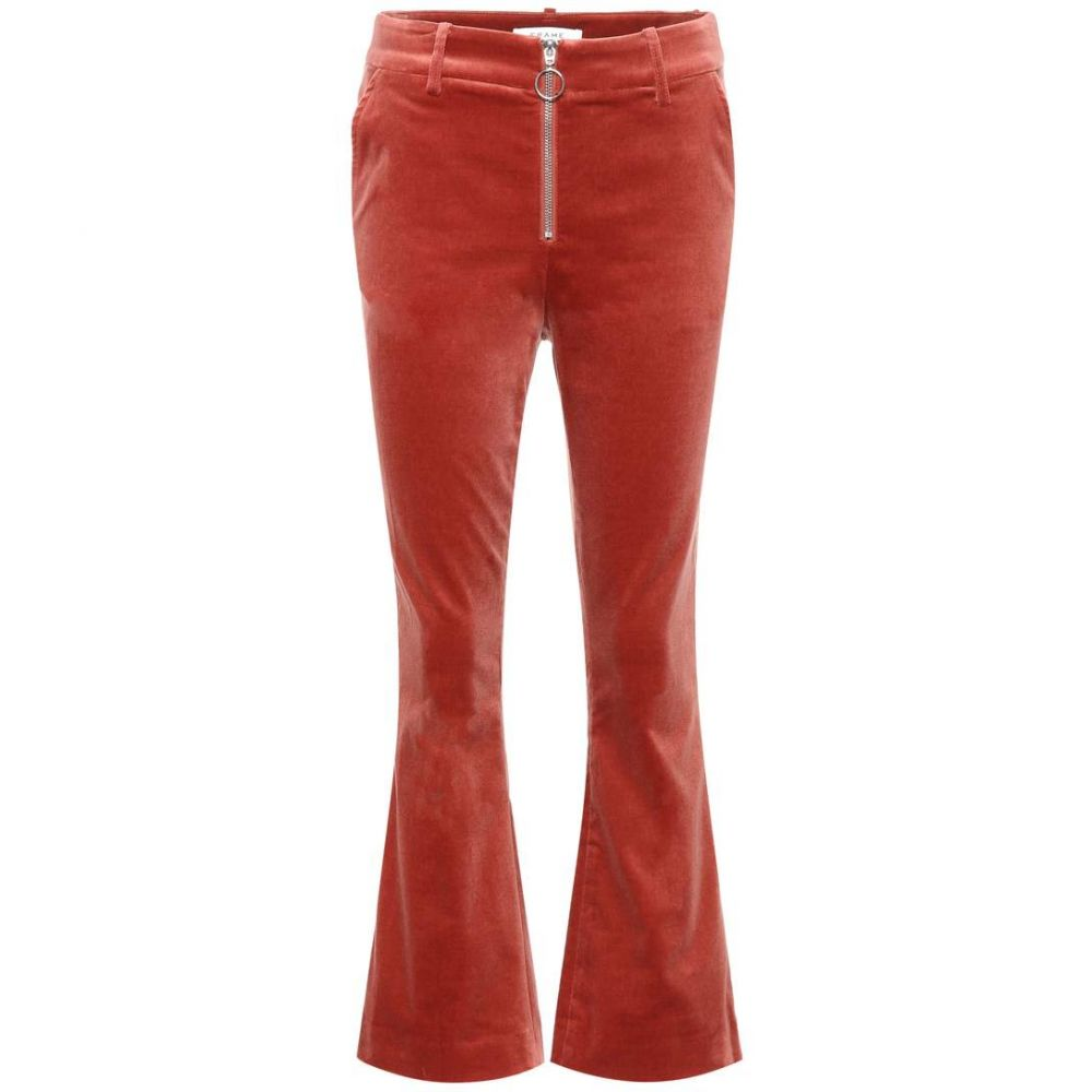 フレーム レディース ボトムス・パンツ クロップド【Velvet cropped trousers】Spic