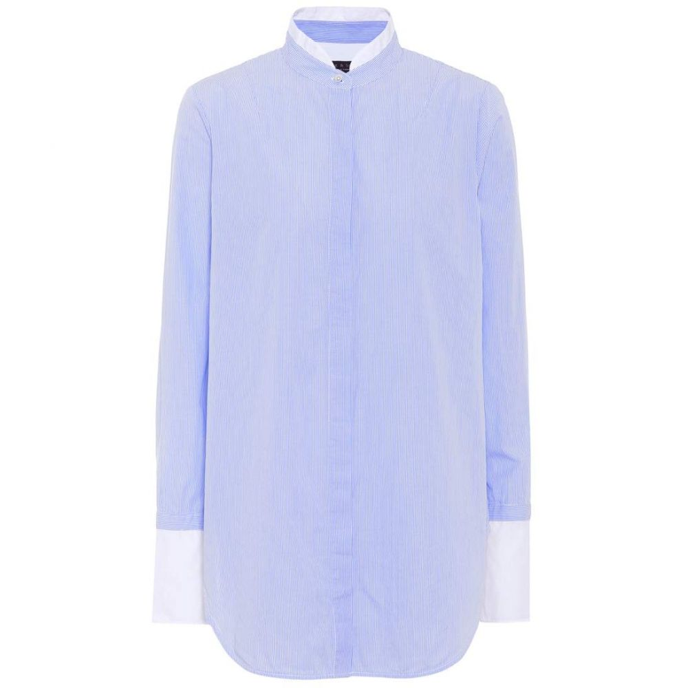 ラグ&ボーン レディース トップス ブラウス・シャツ【Allie striped cotton shirt】Light Blue Stripe