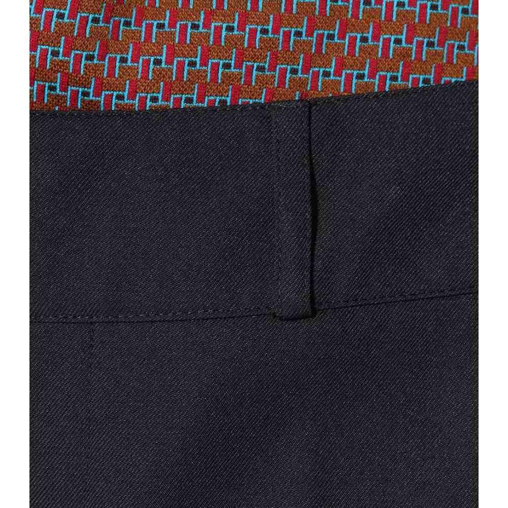 マルニ レディース ボトムス・パンツ【Wool-blend twill trousers】Blueblack