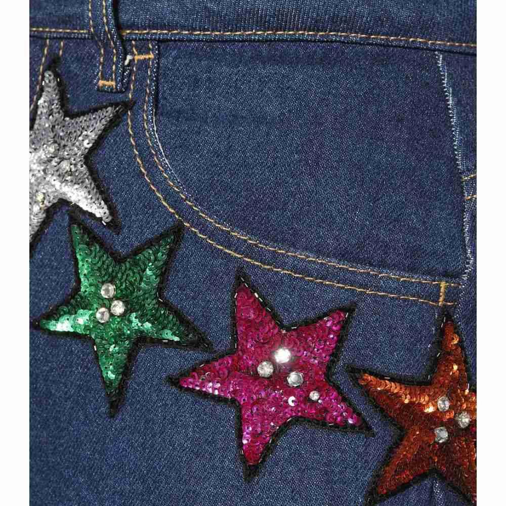 アティコ レディース ボトムス・パンツ ジーンズ・デニム【Attico sequinned high-waisted jeans】Blue