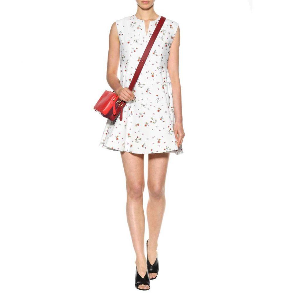 カルヴェン レディース ワンピース・ドレス ワンピース【Printed crepe mini dress】Blanc/Multicolo