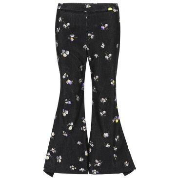 アクネ ストゥディオズ レディース ボトムス・パンツ【Tyme corduroy trousers】Small Flower Black