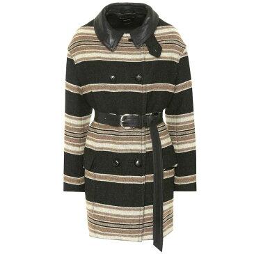 イザベル マラン Isabel Marant レディース アウター コート【Hilda striped wool-blend coat】black
