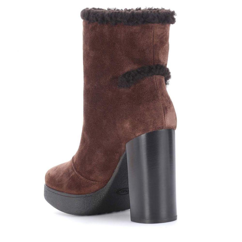 トッズ Tod's レディース シューズ・靴 ブーツ【Suede ankle boots】Brown