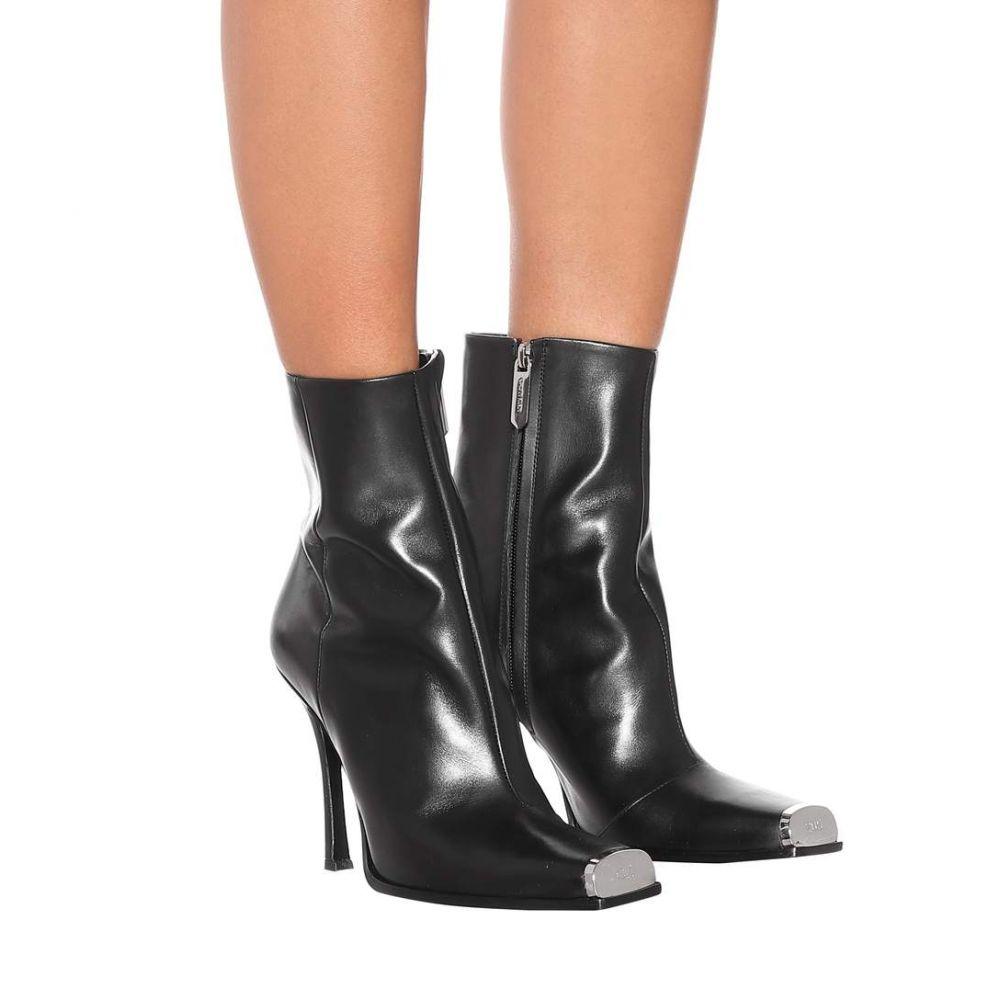 カルバンクライン Calvin Klein 205W39NYC レディース シューズ・靴 ブーツ【Wilamiona leather ankle boots】Black