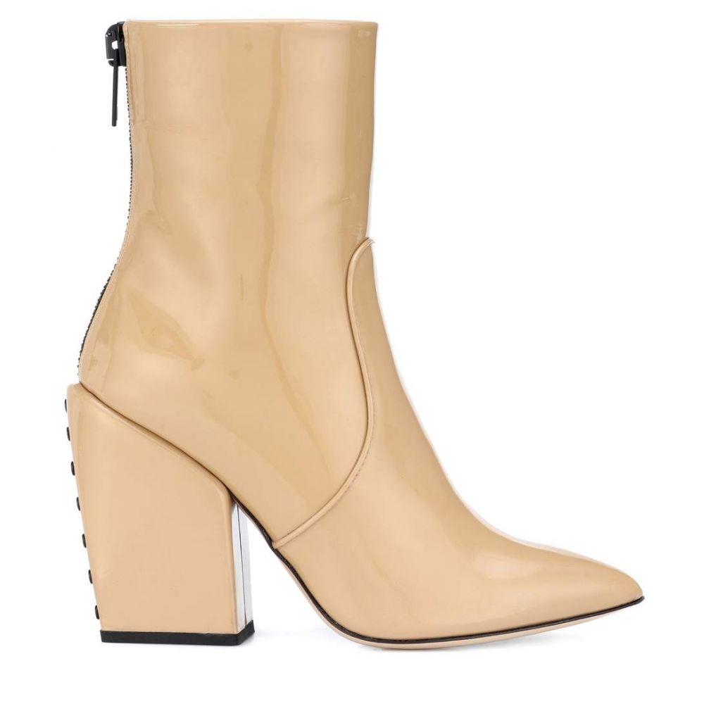 ペーター ペトロフ Petar Petrov レディース シューズ・靴 ブーツ【Solar patent leather ankle boots】MUSTARD/BLACK