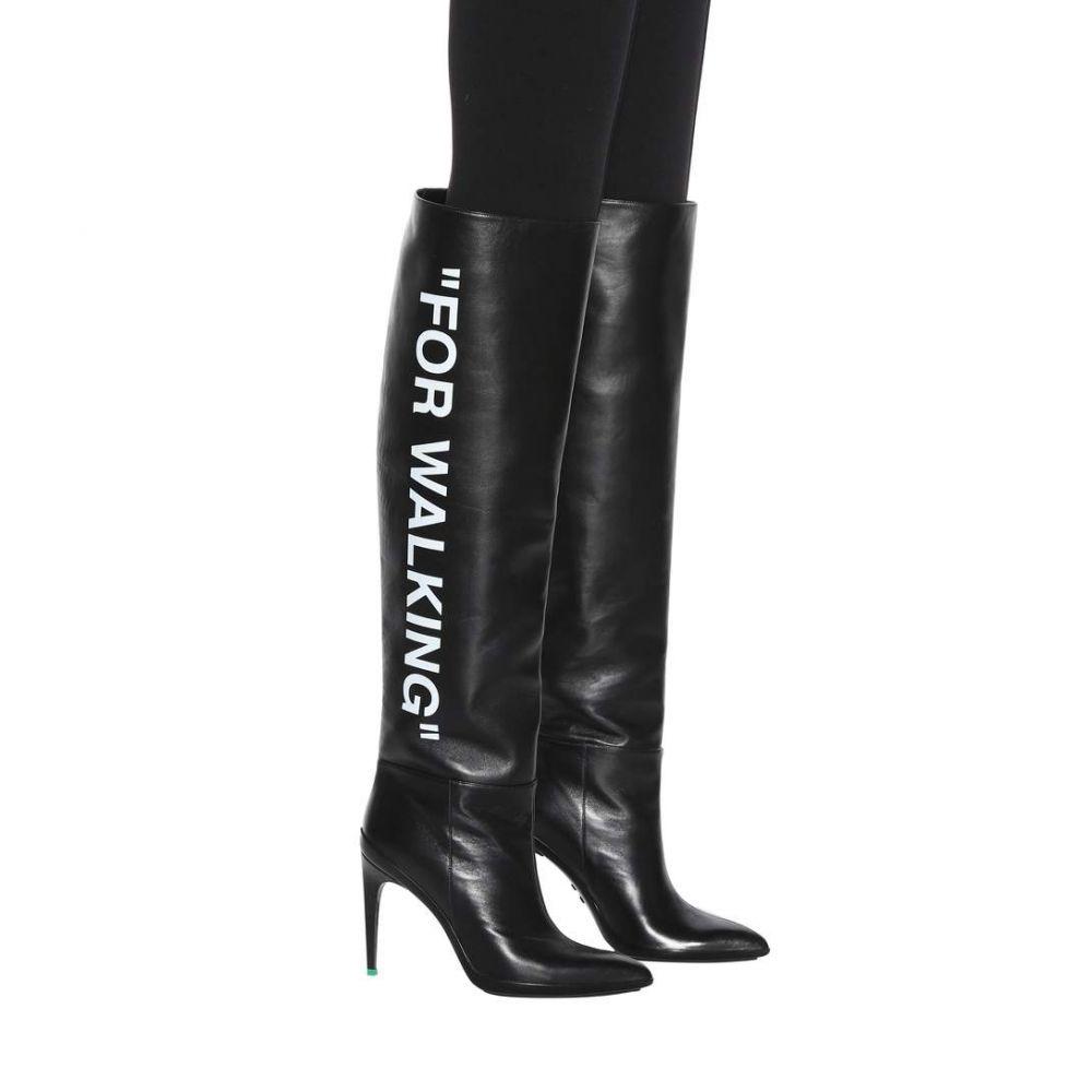 オフ-ホワイト Off-White レディース シューズ・靴 ブーツ【For Walking leather boots】Black White