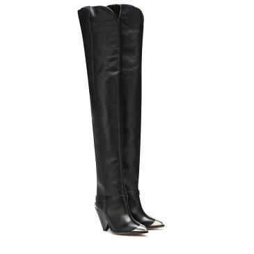 イザベル マラン Isabel Marant レディース シューズ・靴 ブーツ【Lafsten leather over-the-knee boots】Black