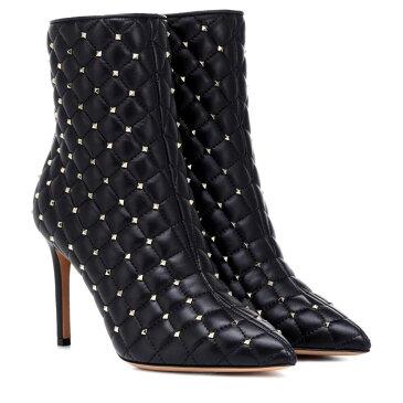 ヴァレンティノ Valentino レディース シューズ・靴 ブーツ【Garavani Rockstud Spike leather ankle boots】Black