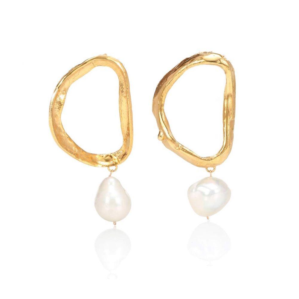 アリギエーリ Alighieri レディース ジュエリー・アクセサリー イヤリング・ピアス【Dante's Shadow 24kt gold-plated bronze earrings with baroque pearls】