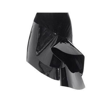 イヴ サンローラン Saint Laurent レディース スカート ミニスカート【Leather-trimmed miniskirt】Noir