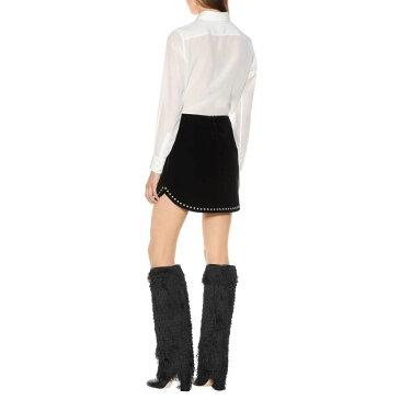 イヴ サンローラン Saint Laurent レディース スカート ミニスカート【Embellished velvet miniskirt】Black
