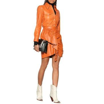 イザベル マラン Isabel Marant レディース スカート ミニスカート【Nela leather miniskirt】cognac