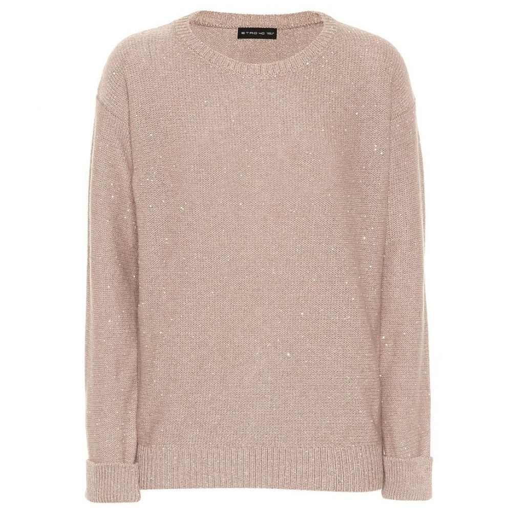 エトロ Etro レディース トップス ニット・セーター【Sequinned wool-blend sweater】