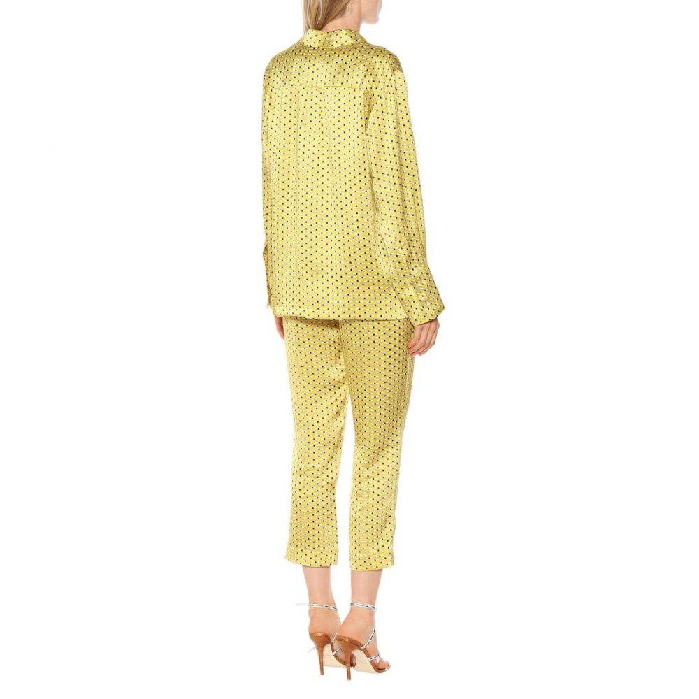アッセーノ Asceno レディース トップス ブラウス・シャツ【Printed silk pajama shirt】Yellow Dot